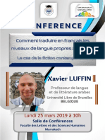Conférence Xavier Luffin