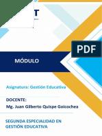 MÓDULO GESTIÓN EDUCATIVA