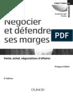 Négocier et défendre ses marges, Vente-Achat-Négociation d'Affaires de Phillipe KORDA