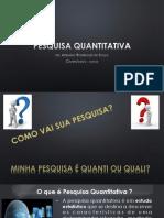 Aula de pesquisa quantitativa
