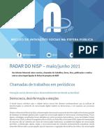 Radar Do NISP Maio- Junho 2021.