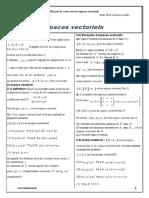 Espaces Vectoriels Resume de Cours 1 2
