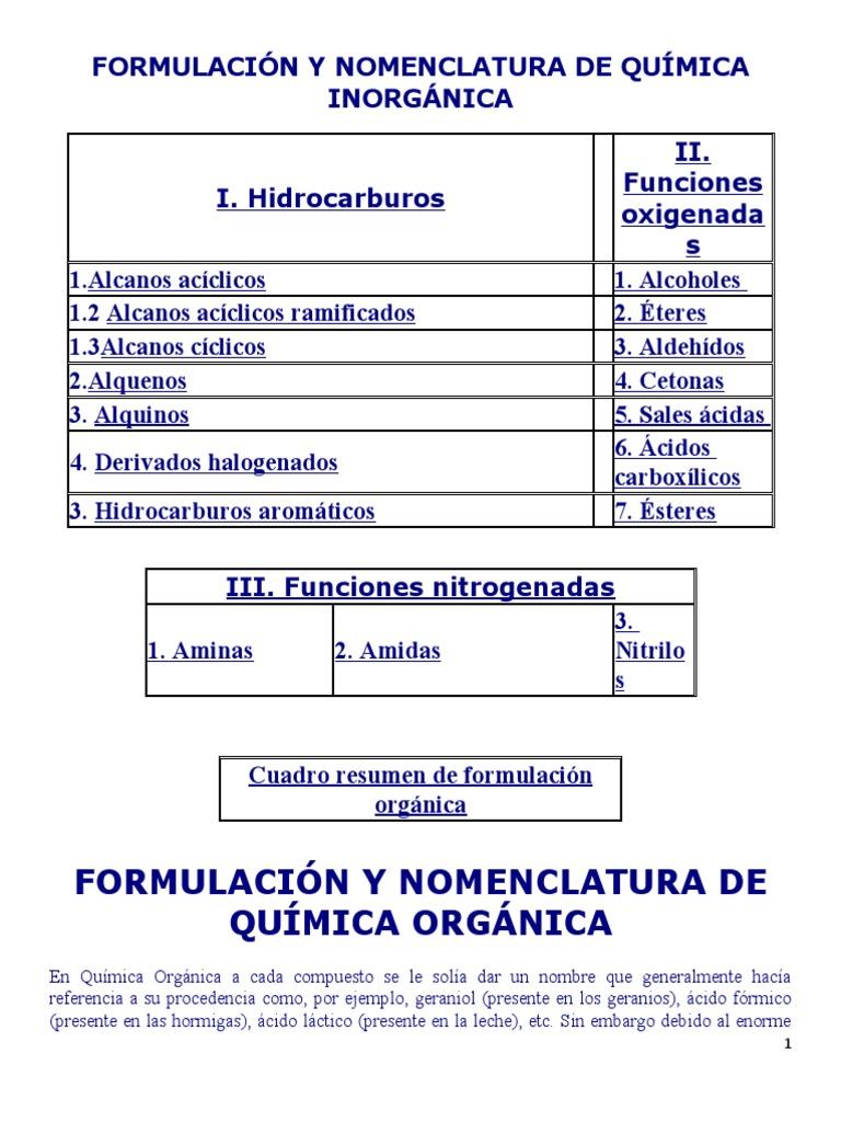 Formulaci n y nomenclatura de qu mica inorg nica for Resumen del libro quimica en la cocina