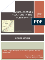 Russo-Japanese Relations in the North Pacific
