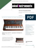 Minimoog e gli altri_ i capolavori di Robert A. Moog - New Musical Instruments