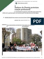 Trabalhadores da Fhemig protestam em BH por valorização profissional - Gerais - Estado de Minas