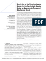 Prediction of the Vibration Levels Generated by Pyrotechnic Shocks Using an Approach by Equivalent Mechanical Shock