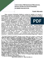 Inceputul Miitropoliei Moldovei