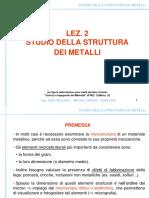 Lez_2_Studio Della Struttura Dei Metalli