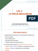 Lez 4 Le Prove Meccaniche