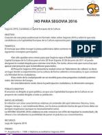 Concurso trucho patrocinado por Segovia 2016
