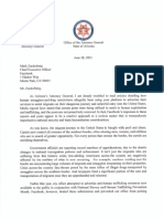 Brnovich letter to Facebook