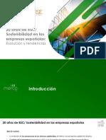 Informe 20 años de RSC/Sostenibilidad en las empresas españolas