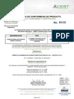 Cable ACSR-FACELEC-CIDET 02122