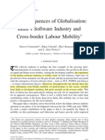 The consequences of globalization- India software industry and cross border mobility