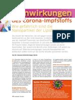 BioNTech-Corona-Impfstoff -  Wie gefährlich sind die Nanopartikel der Lipidhülle?, Von Dr. Vanessa Schmidt-Krüger, Berlin