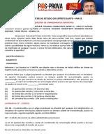 Comentário Conhecimentos Especificos Eduardo Galante PM ES