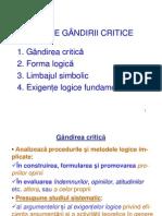 I. GÂNDIREA CRITICA