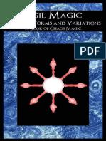 Magia de los Sigilos - Formas y variaciones comunes (Un libro de magia del caos) - Lars Helvete