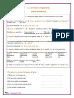 Les pronoms complements directs et indirects Exercices et corrige