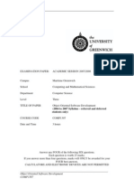 Sample of Object Oriented Software Development Exam (2007/2008) - UK University BSc Final Year