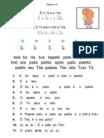 Ficha de Leitura t-T