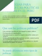 ESTRATEGIAS PARA MEJORAR LAS POLITICAS PUBLICAS EN EL