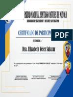 CERTIFICADO Dra Elizabeth