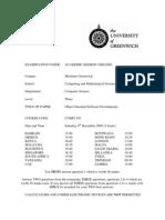 Sample of Object Oriented Software Development Exam (Dec 2008) - UK University BSc Final Year