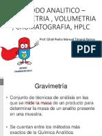 Metodo Analitico – Gravimetria , Volumetria , Cromatografia