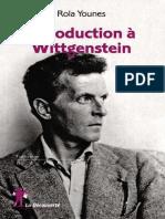 [Repères Sociologie] Rola Younes - Introduction à Wittgenstein (2016, La Découverte)