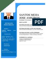 Jose Amstron Santos Mejia Curriculo Vitae