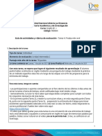 Activities guide and Evaluation rubric - Unit 2 -Task 4 - Speaking Production.en.es