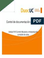 2.1.3 Control de Documentación en Obra