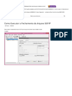 Como Executar o Fechamento do Arquivo SEFIP – Metadados