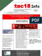 Attac18 Info 2011. Mars-Avril