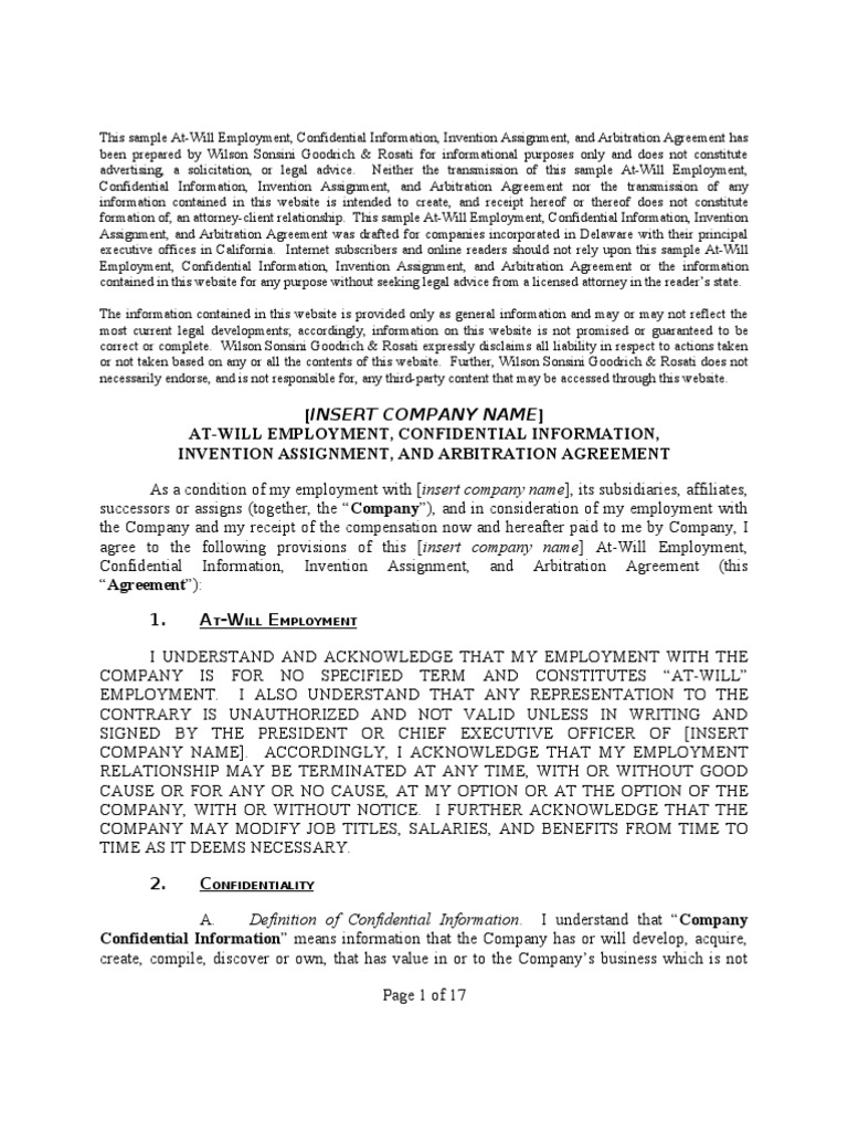 Fii formofinventionassignmentagreement law of california fii formofinventionassignmentagreement law of california arbitration platinumwayz