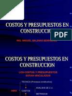 costos y presupuestos en construccion