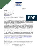 New York Bar Association open letter to President Biden on Western Sahara