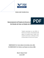 Gerenciamento de Projetos de Governo Eletrônico