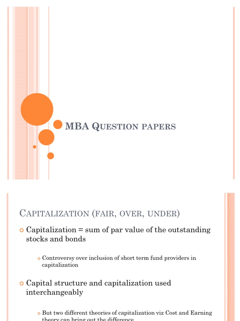 types of capital structure theories pdf