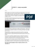 miwifi.com и 192.168.31.1 – вход в настройки роутера Xiaomi