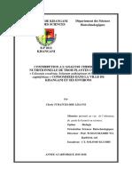 Contribution a l'Analyse Chimique Et Nutrionnels de Xanthosoma Et Colocasia