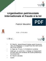 Fraude a la loi ULB 28 mai 2015