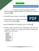 FISA DE LUCRU - Prezentarea comenzilor de cotare