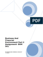 Business and Financial Environment Part 2 - BSM 501