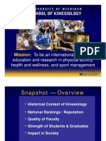 School of Kinesiology Overview 2011