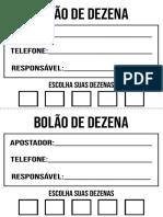 Bolão de Dezena PDF