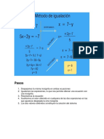 Sistemas de ecuaciones- Metodo de igualación