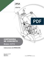 CCT12-Manual-de-Operación-y-partes Cortadora de piso